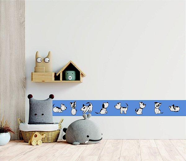 Adesivo faixa de parede Cachorrinho