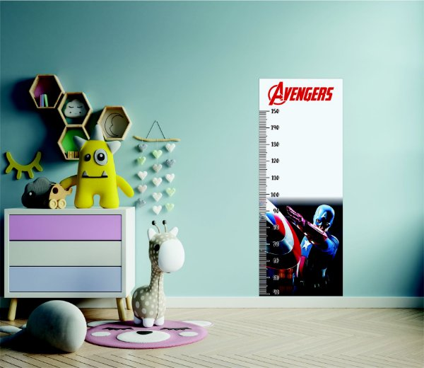 Adesivo Régua de Medição Avengers Capitão América