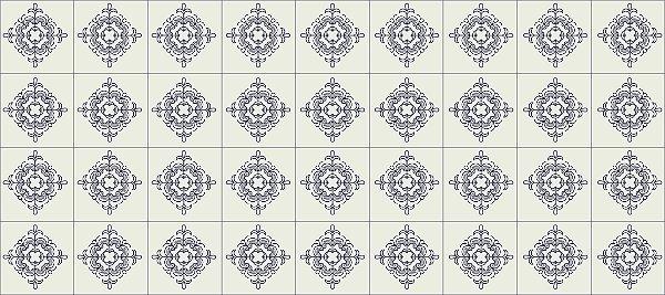 Adesivo Azulejo Ladrilho Hidráulico MOD 06
