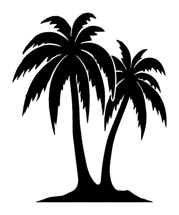 Adesivo de Parede Floral Árvore Palmeira