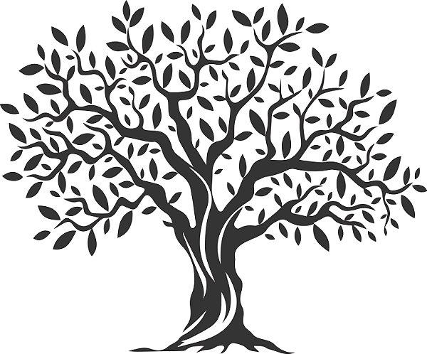 Adesivo de Parede Floral Árvore 02