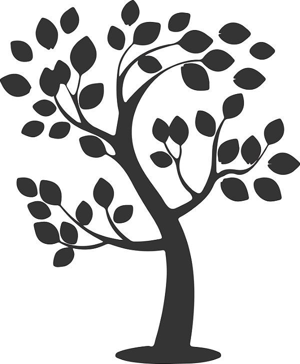 Adesivo de Parede Floral Árvore 04