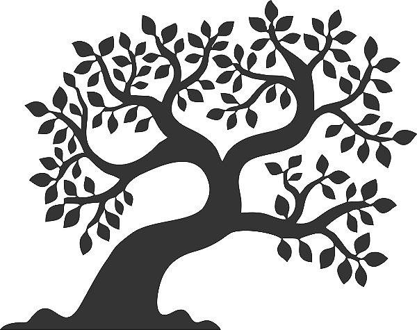 Adesivo de Parede Floral Árvore 05