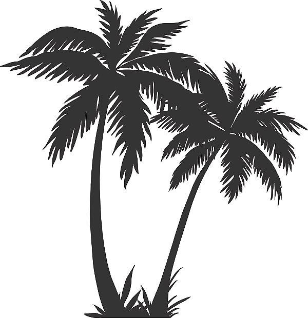 Adesivo de Parede Floral Árvore Palmeira 03