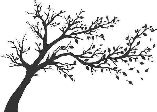 Adesivo de Parede Floral Árvore 07