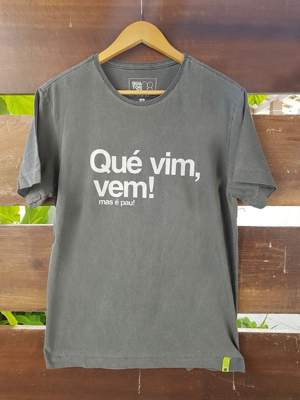 Camiseta Qué Vim Vem Estonada Preta