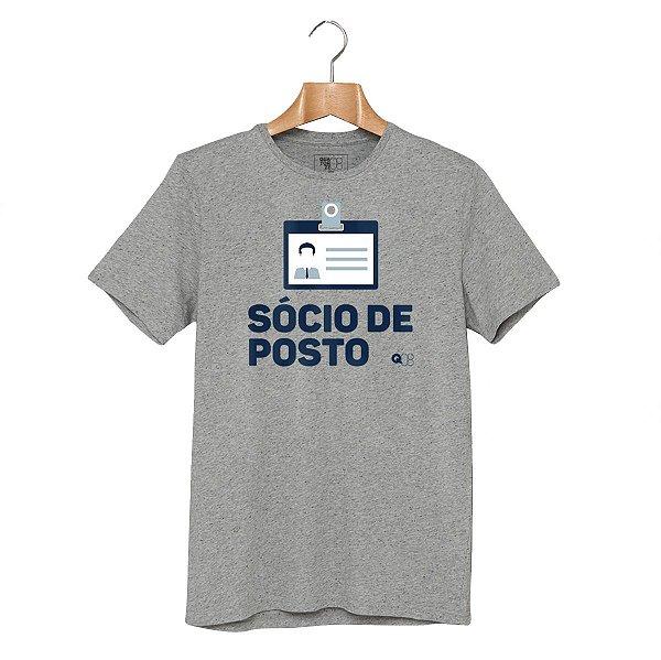 Camiseta Sócio de Posto Cinza Mescla