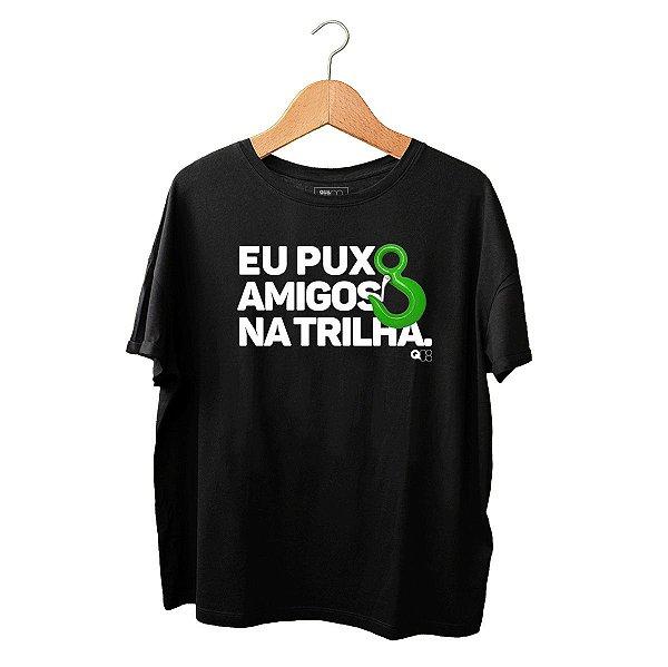 Camiseta Puxo Amigos na Trilha Preta