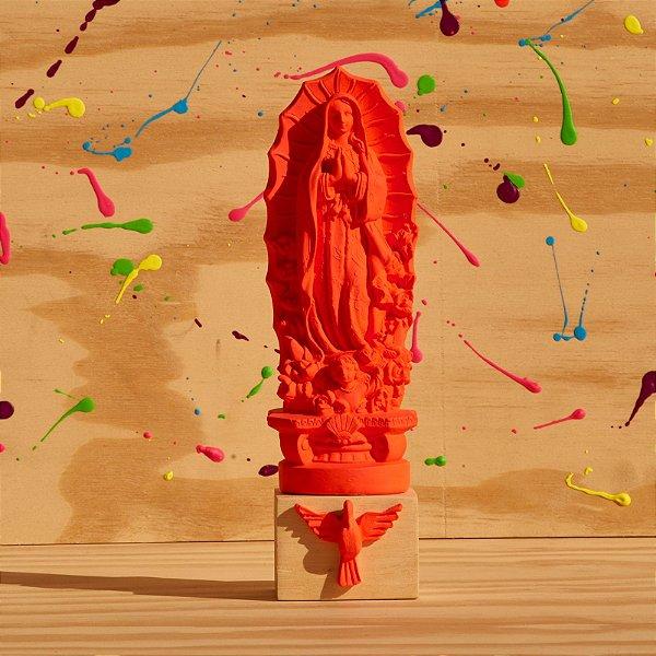 Nossa Senhora de Guadalupe - Rosa Alaranjado Neon