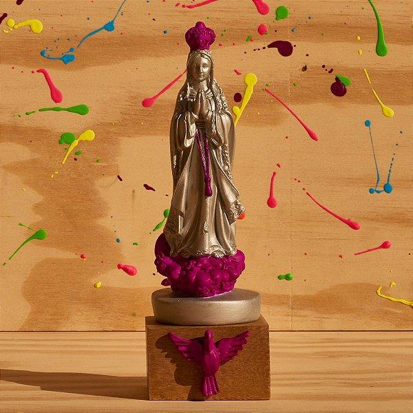Nossa Senhora de Fátima - Prata e Roxa