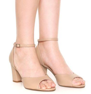 12dee6e961 sandalia nude bege vizzano pelica - Alencar Calçados e Bolsas