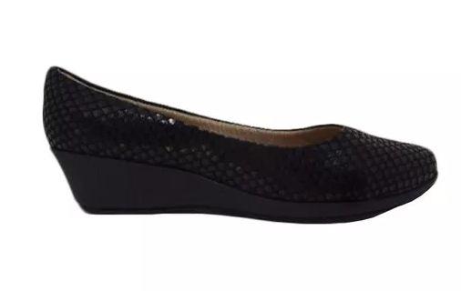 9a9411b6e6 Sapato Anabela Piccadilly preto - Alencar Calçados e Bolsas