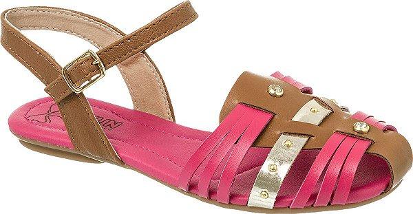 Sandália infantil Klin Anne Kids Caramelo Pink