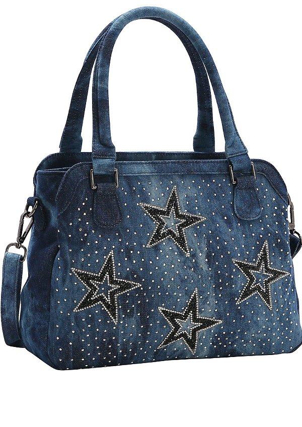 Bolsa Chenson Ombro/transversal Jeans Star 82538  (GANHE BRINDE)