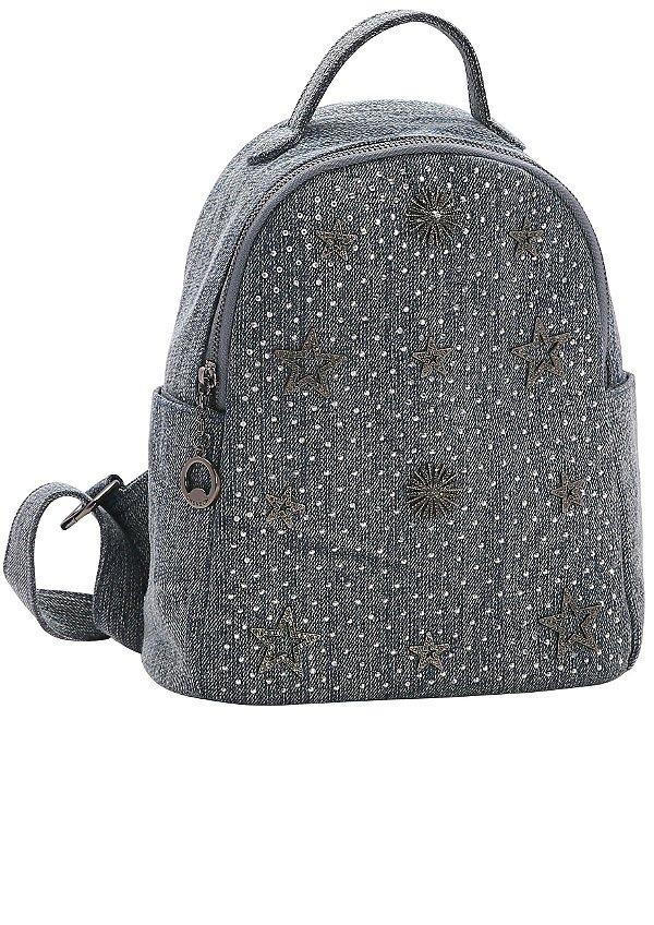 Bolsa Mochila Chenson Pequena Casual Chic Jeans Constelação 82537  (GANHE BRINDE)