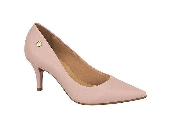 Sapato Scarpin Vizzano Salto Médio Pelica Rosa & Branco 25100