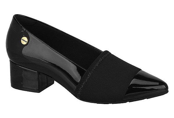 Sapato Scarpin Modare Salto Grosso Preto & Bege 7340.105