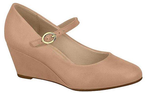 Sapato Feminino Anabela Boneca Beira Rio Nude&preto 4229.102