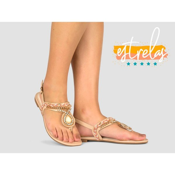 Sandália Dakota Casual Chic Bege Z5652