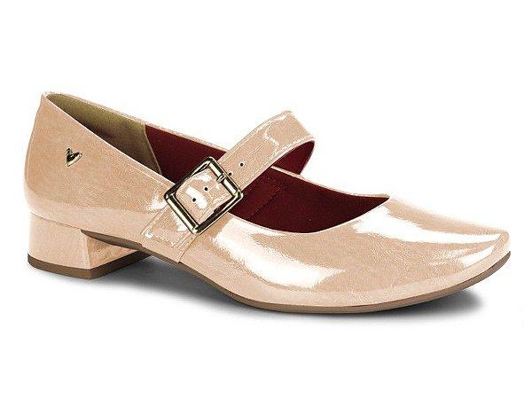 Sapato Boneca Salto Baixo Mississipi Bege Q0082