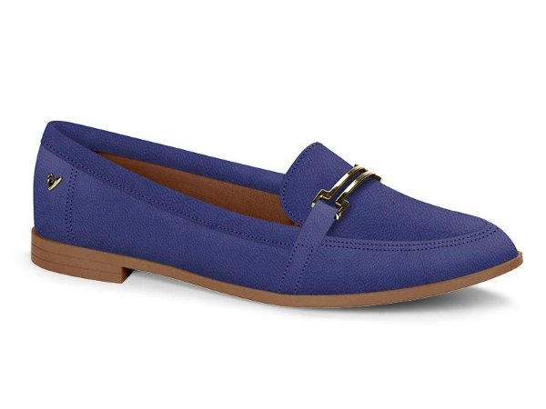 Sapato Casual Salto Baixo Com Fivela Mississipi Preto&Azul Q0372