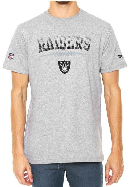 Camiseta New Era Raiders Oakland Cinza