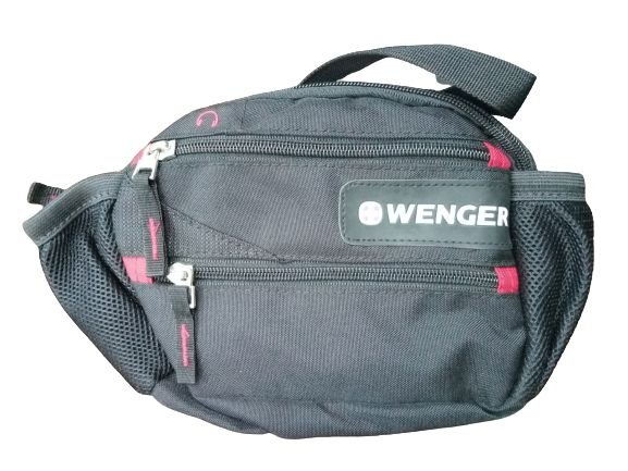 Pochete Wenger com 3 bolsos, Preta
