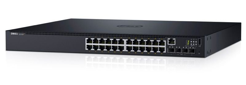 Switch Dell N1524P 24 Portas Gigabit POE 4 Portas SFP+ 210-AEVY