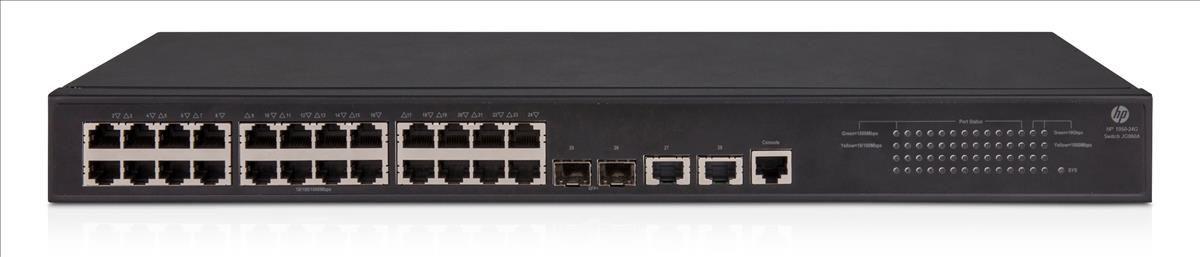 Switch HP 1905-24 Portas Gigabit Gerenciável SFP+ 2XGT 10G  JG960A