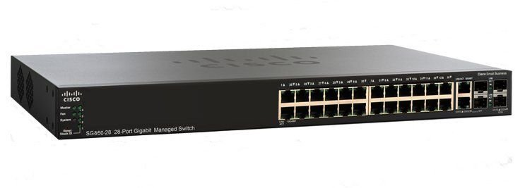 Switch Cisco 28 Portas Gigabit POE SG350-28P-K9-BR