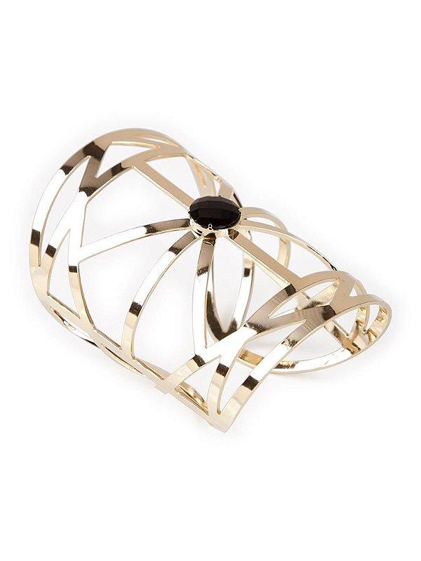 Bracelete Gaia preto e dourado