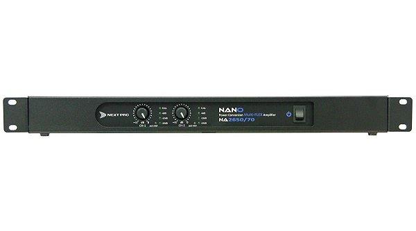 Amplificador de Potência NEXT PRO Nano NA 2650 70V - 1200 WRMS - Bivolt