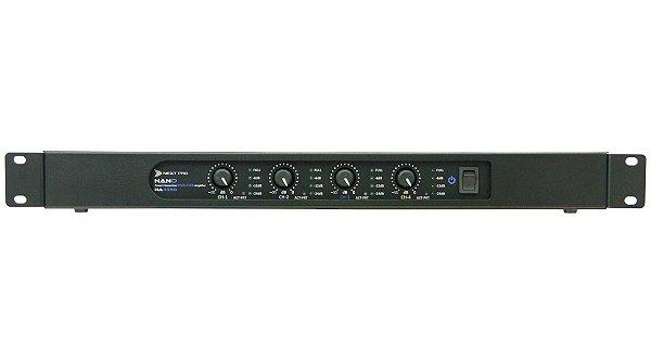 Amplificador de Potência NEXT PRO 4 Canais Nano NA 4350 - 1400 WRMS - Bivolt