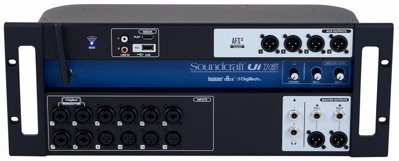 Mesa Digital SOUNDCRAFT Ui-16R Rack 16 canais
