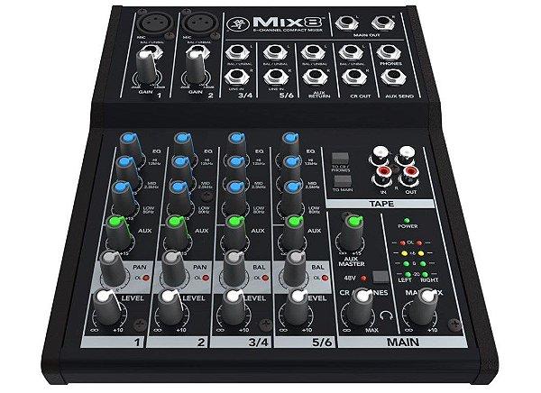 Mesa de som compacta Mackie 8 Canais - Mix8