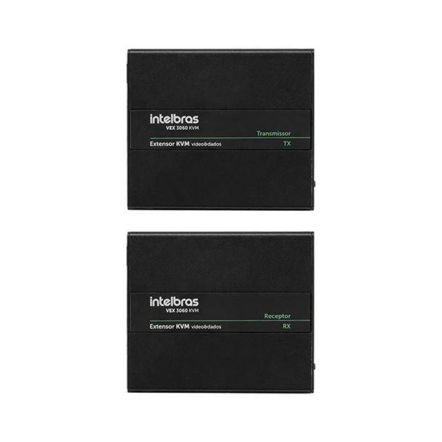 Extensor KVM Vídeo e Dados Até 60 Metros VEX 3060 KVM Intelbras