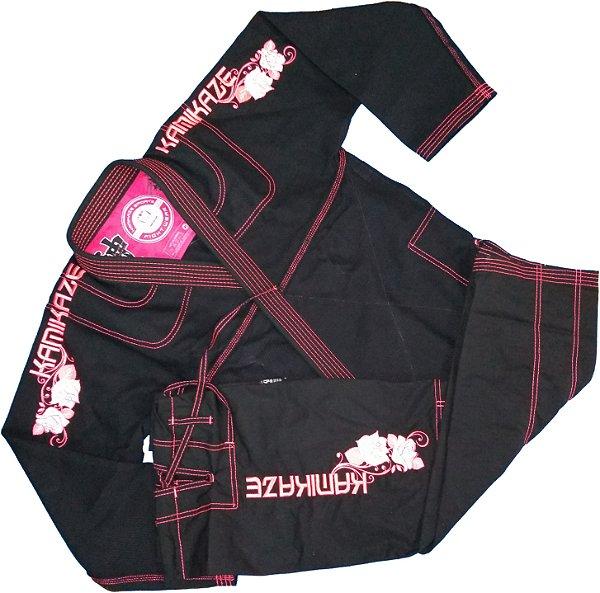 Kimono K2/17 Preto/Rosa