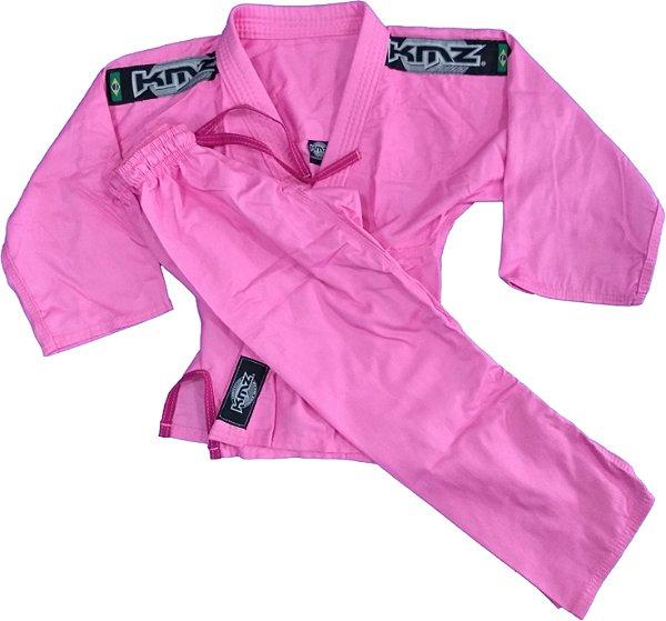 Kimono Judo Infantil Reforçado KMZ Rosa