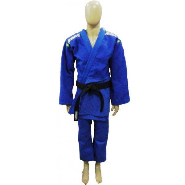 Kimono Judo Adulto Trançado Pesado KMZ Azul