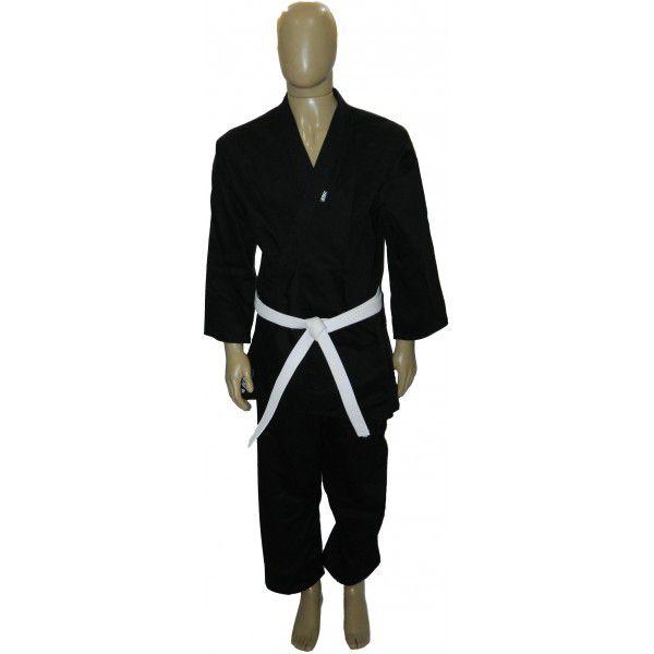 Kimono Karate Adulto Preto Brim KMZ