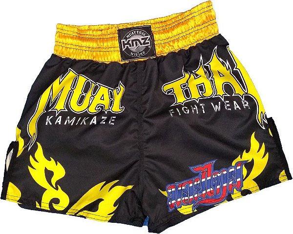 Short de Muay Thai Amarelo
