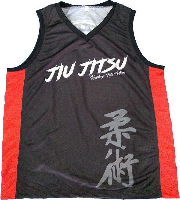 Regata Basqueteira kanji Jiu Jitsu Preta