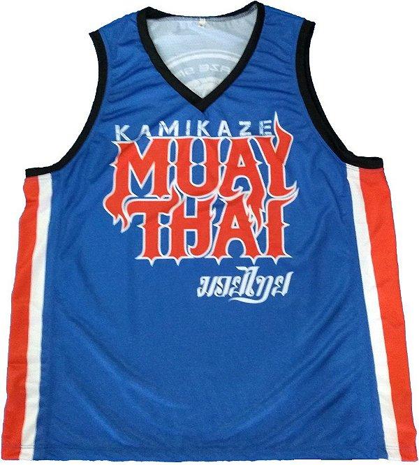 Regata Basqueteira Azul Muay Thai