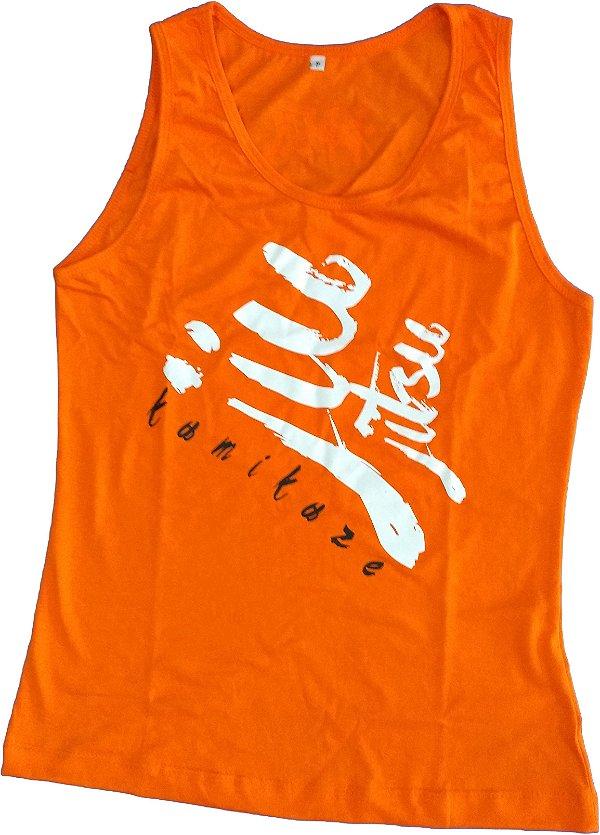 Camiseta Regata Feminina jiu laranja