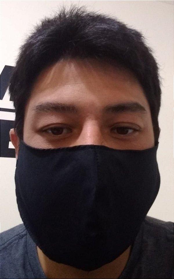 Máscara Preta tecido duplo