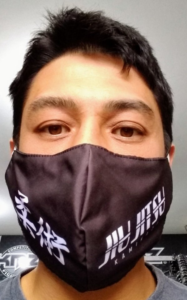 Máscara Preta Jiu Jitsu MOD2