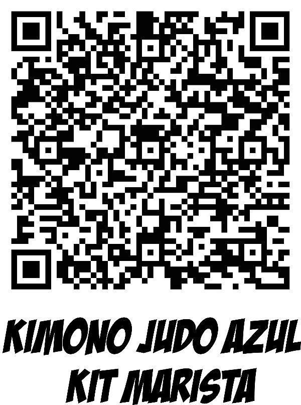 Kimono Judo Infantil Reforçado KMZ Azul c/ Kit Marista