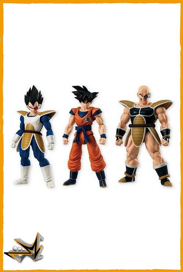 Goku Vegeta e Nappa Set Dragon Ball - Bandai Shodo