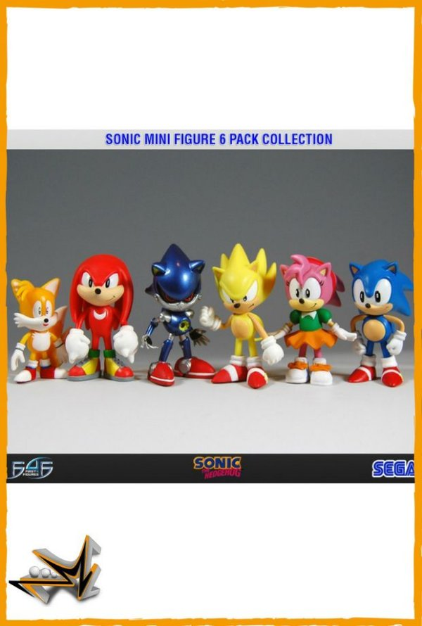 Sonic The Hedgehog Pack com 6 Personagens - First 4 Figures