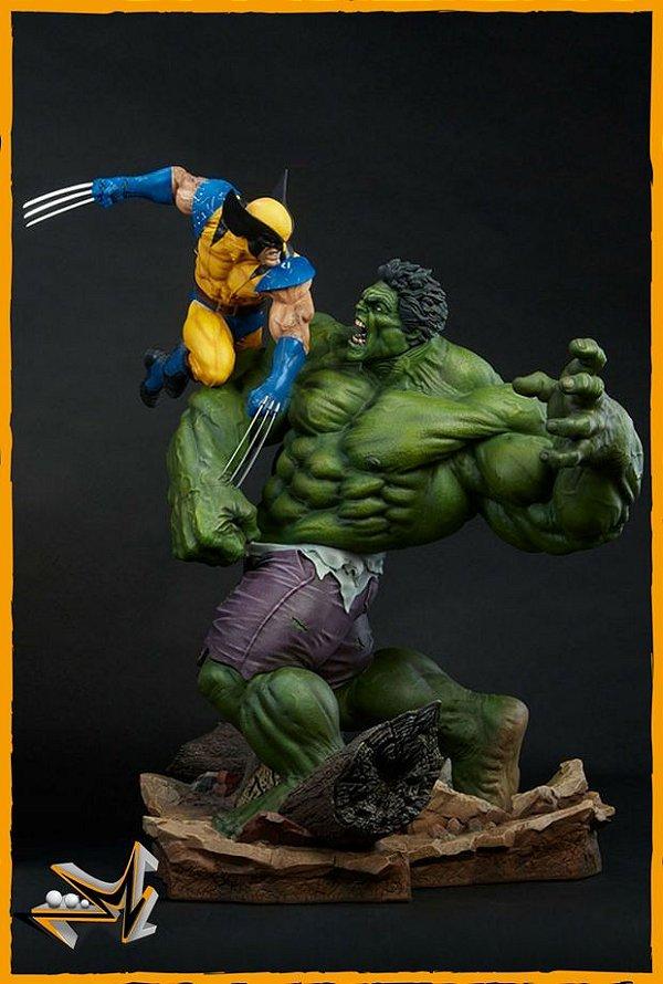 Hulk Vs Wolverine Maquette Marvel - Sideshow